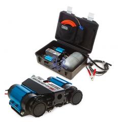 Compresor portátil ARB doble de 12 V con calderin de 4 litros