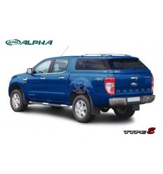 HardTop Alpha Type-E Fibra - Con Ventanas - Ford Ranger 2012-