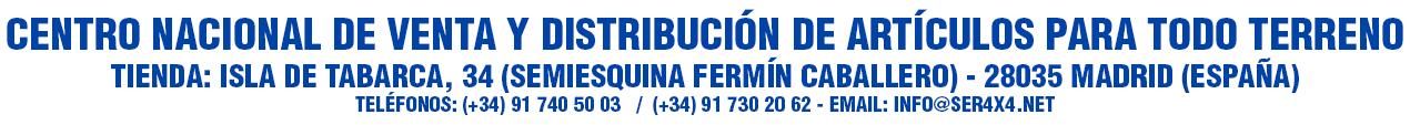 CENTRO NACIONAL DE VENTA Y DISTRIBUCIÓN DE ARTÍCULOS PARA TODO TERRENO